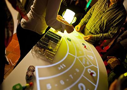 Animation casino lumineux