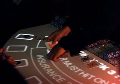 Animation entreprise casino lumineux