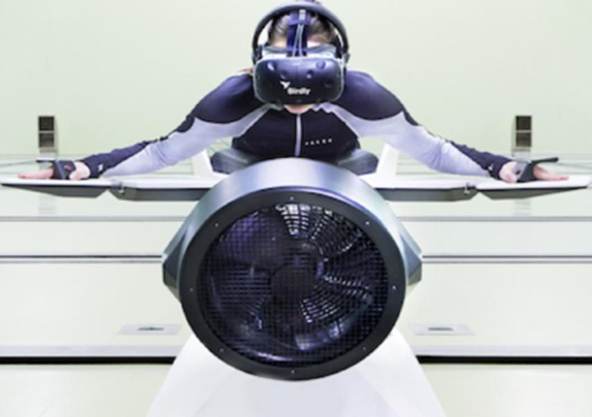 Animations réalité virtuelle wingsuit