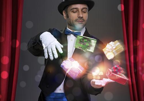 Arbre de Noël entreprise magicien