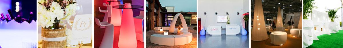 Location mobilier design evenementiel