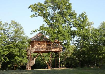 Cabane perchee dans les arbres