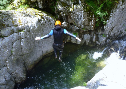 Canyoning dans les Pyrenees