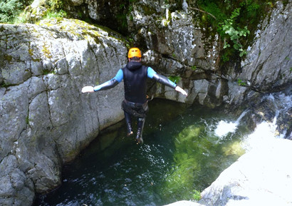 Canyoning dans les Pyrenees