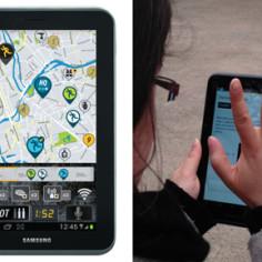 Chasse au-trésor tablette numérique