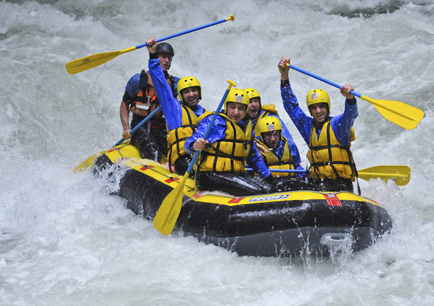 Incentive Andorre rafting