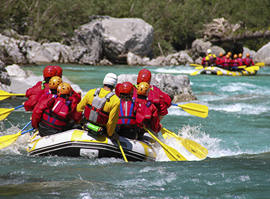 Incentive rafting au Pays Basque