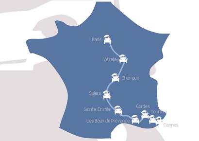 Itineraire rallye 2cv paris cannes