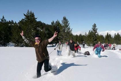 Journée neige entreprise
