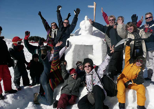 Journée neige entreprise construction igloo 2