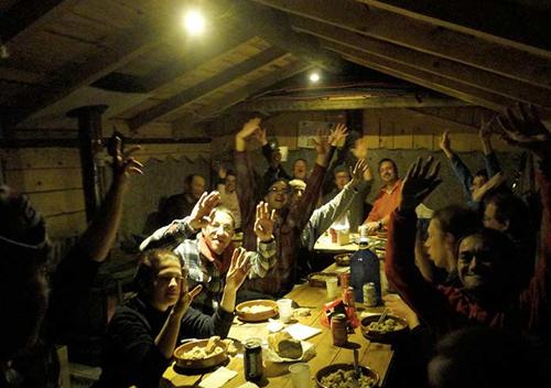 Journée neige entreprise dejeuner cabane 2