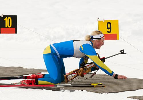 Journée neige entreprise randonée biathlon