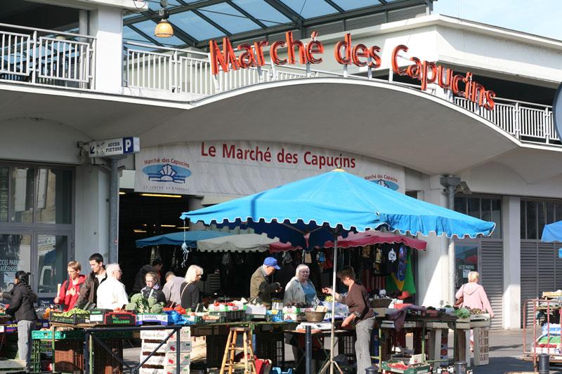 Marché des capucins Bordeaux