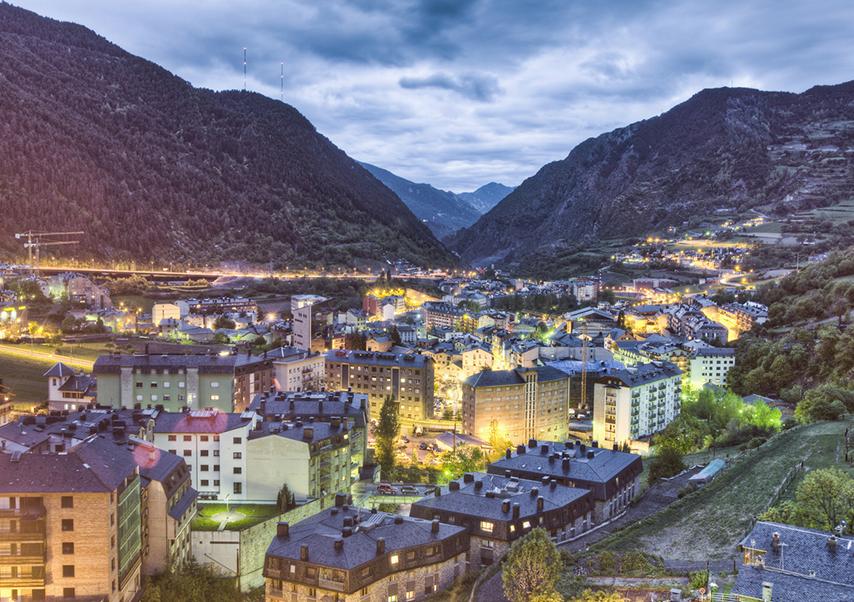 Séjour groupe Andorre de nuit