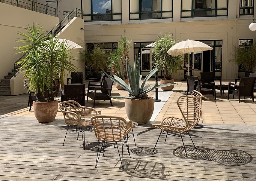 Séminaire résidentiel Bordeaux terrasse