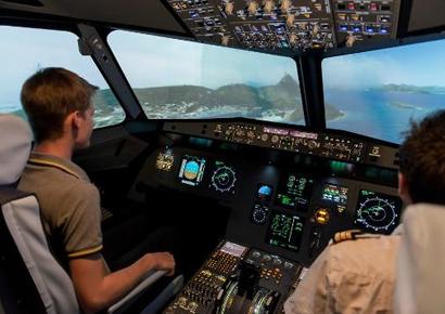 Simulateur de vol Airbus