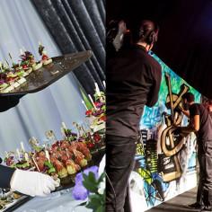 Soirée entreprise orginale avec cocktail et live painting