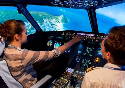 Soiree entreprise simulateur de vol Airbus