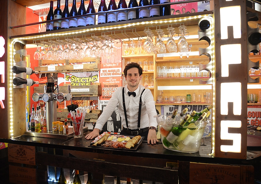 Soirée entreprise théâtre privatisé bar