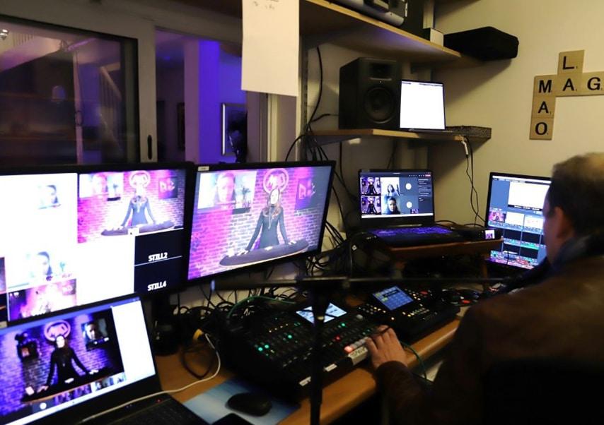 Spectacle de magie en streaming live régie