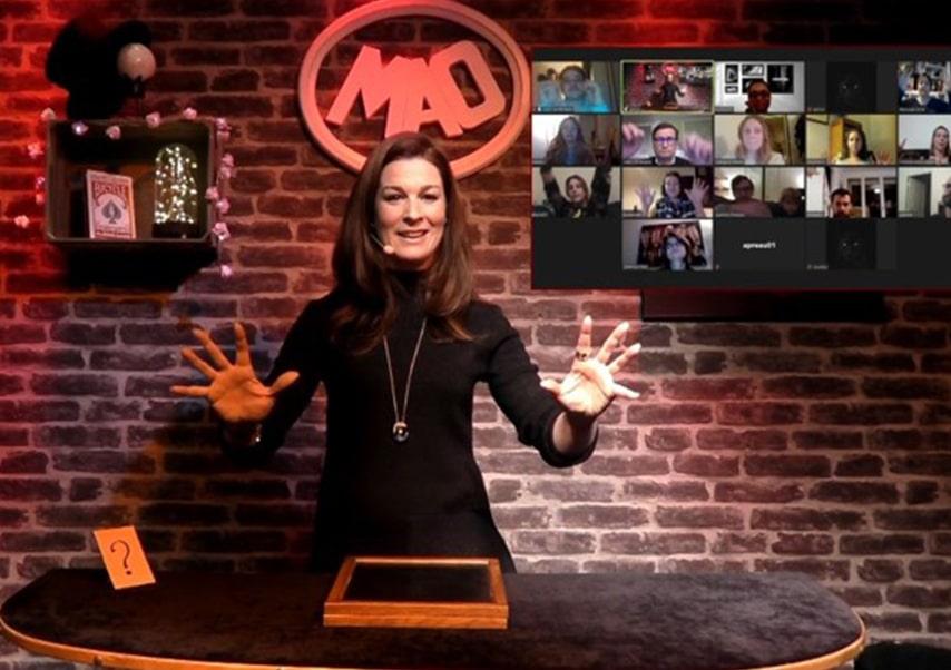 Spectacle de magie en streaming live show