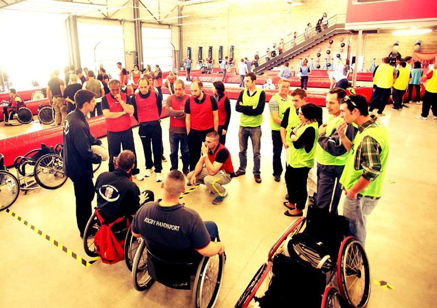 Team building solidaire sportif equipe