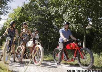 Team building Languedoc-Roussillon vélo vintage électrique