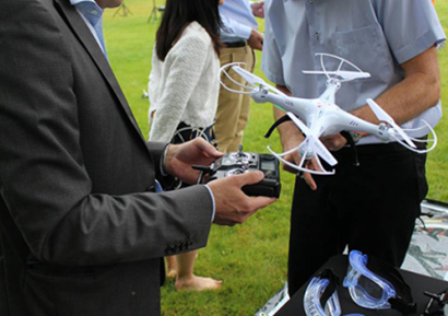 Team building challenge drone