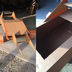 Team building construction voiture carton