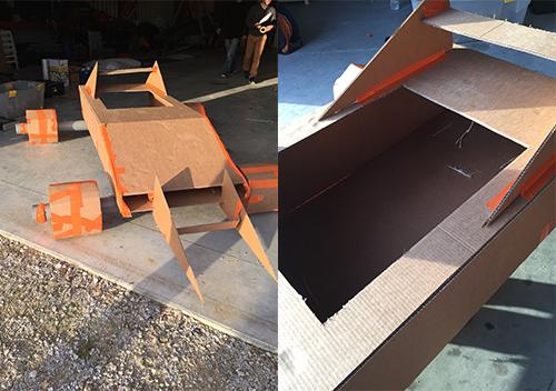team building construction voiture en carton formule 1. Black Bedroom Furniture Sets. Home Design Ideas