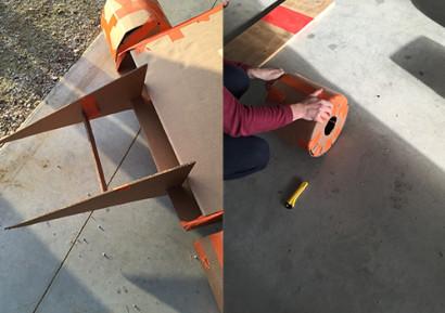 Team building construction voiture en carton 2