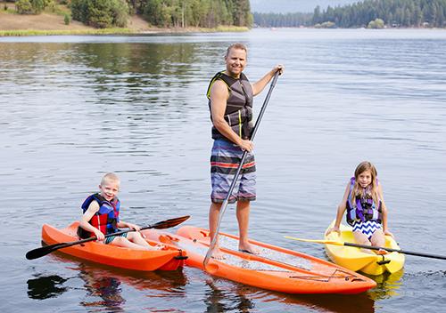 Team building multi-activités paddle