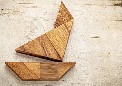 Team building tangram