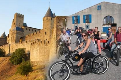 Team building vélo électrique vintage Pays Cathare