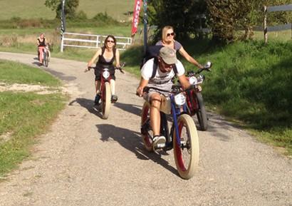 Team building vélo vintage en Pays Cathare