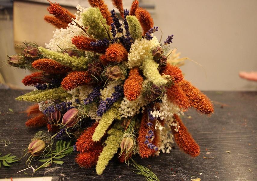 Team building vegetal bouquet