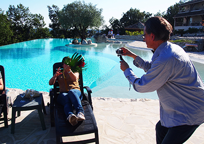 Team building vidéo piscine