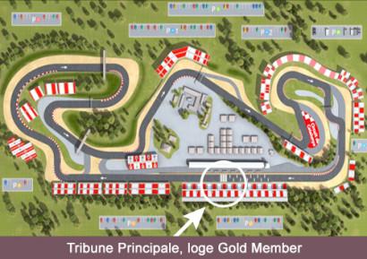 Tribune Principale Loge Gold Member
