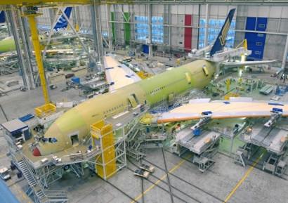 Visite de la chaine de montage de l'A380 Blagnac