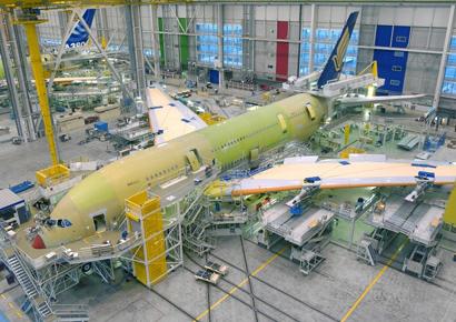 Visite du site d Airbus