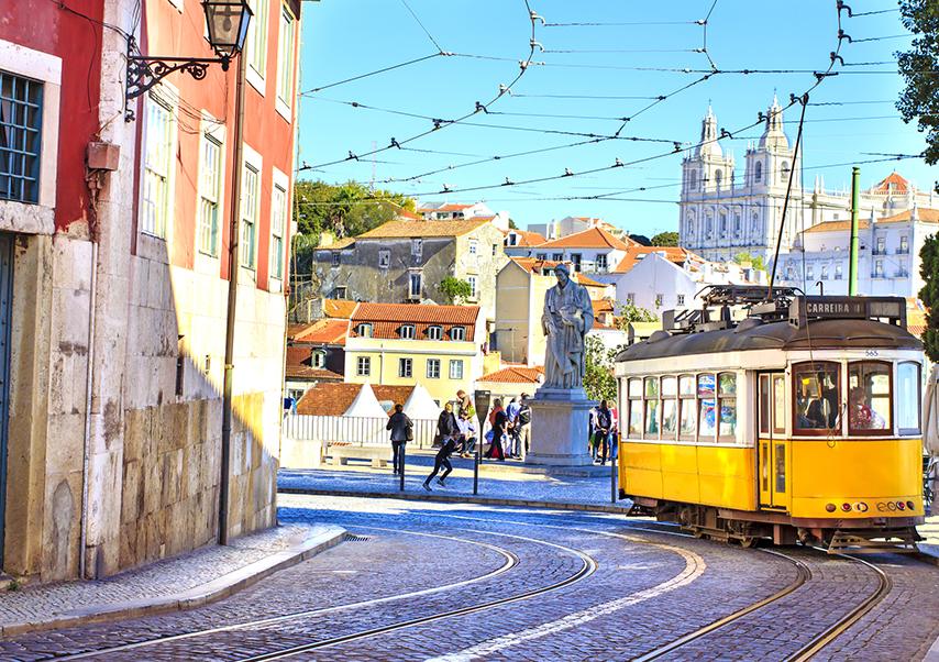Voyage entreprise Lisbonne tramway