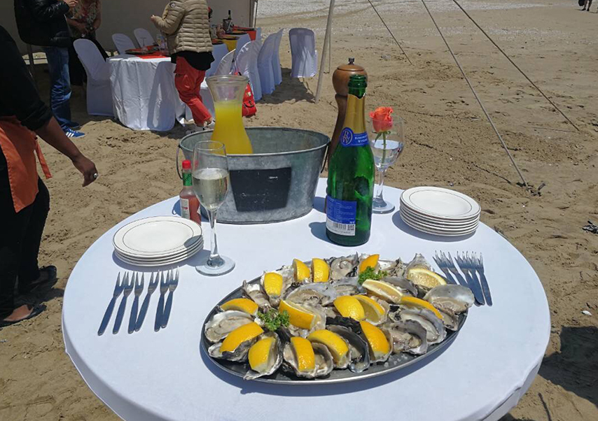 Voyage entreprise Namibie déjeuner