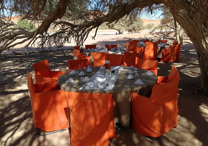 Voyage entreprise Namibie dîner