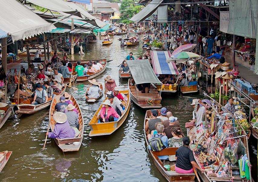 Voyage incentive Thaïlande marche flottant