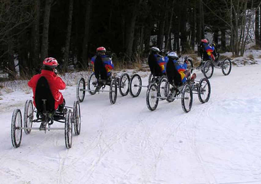 activités neige originales quad bike