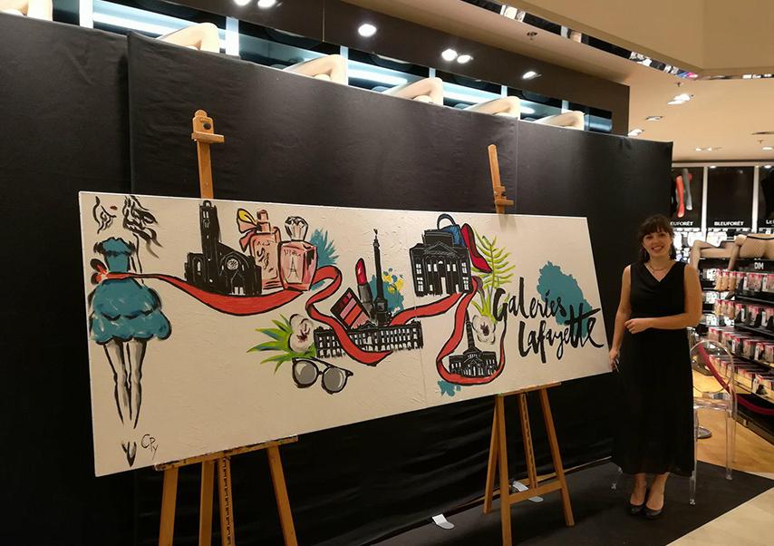 animation artistique soirée entreprise live painting