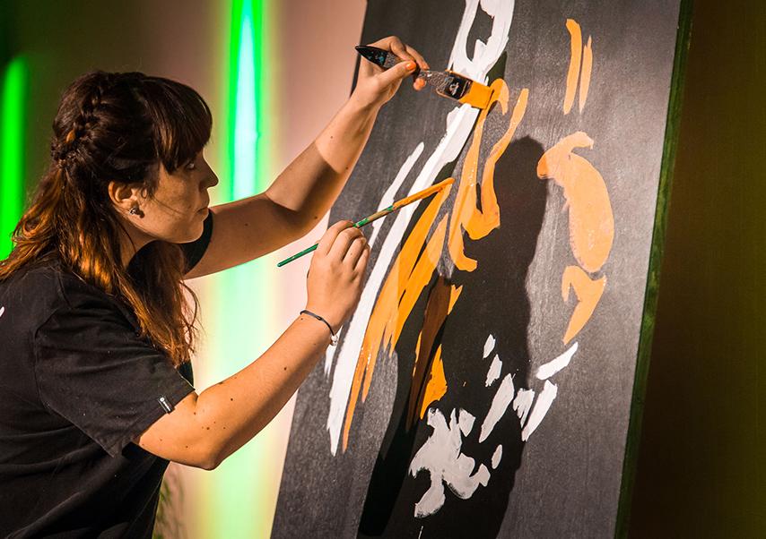 animation artistique soirée entreprise speed painting