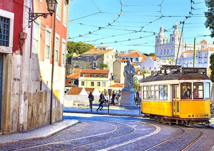 business trip Lisbon tramway