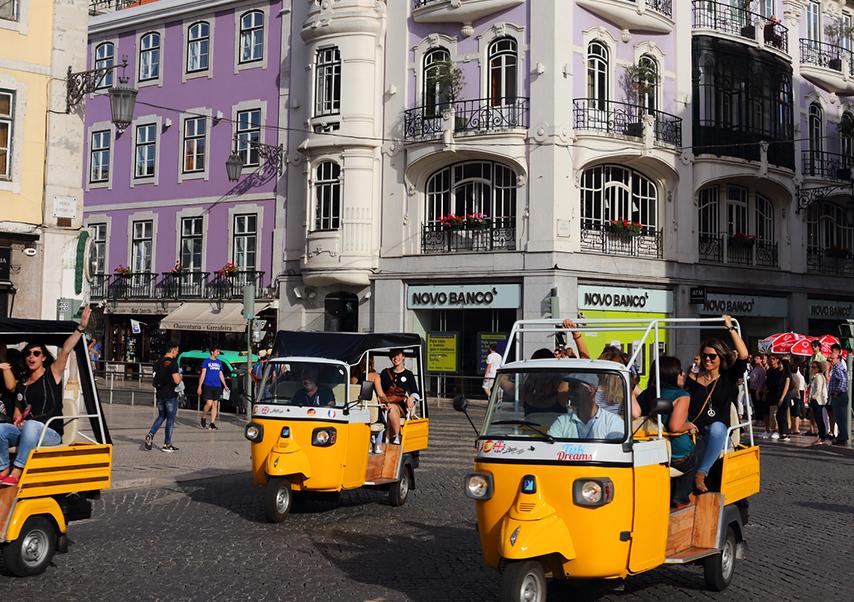 business trip Lisbon tuk-tuk