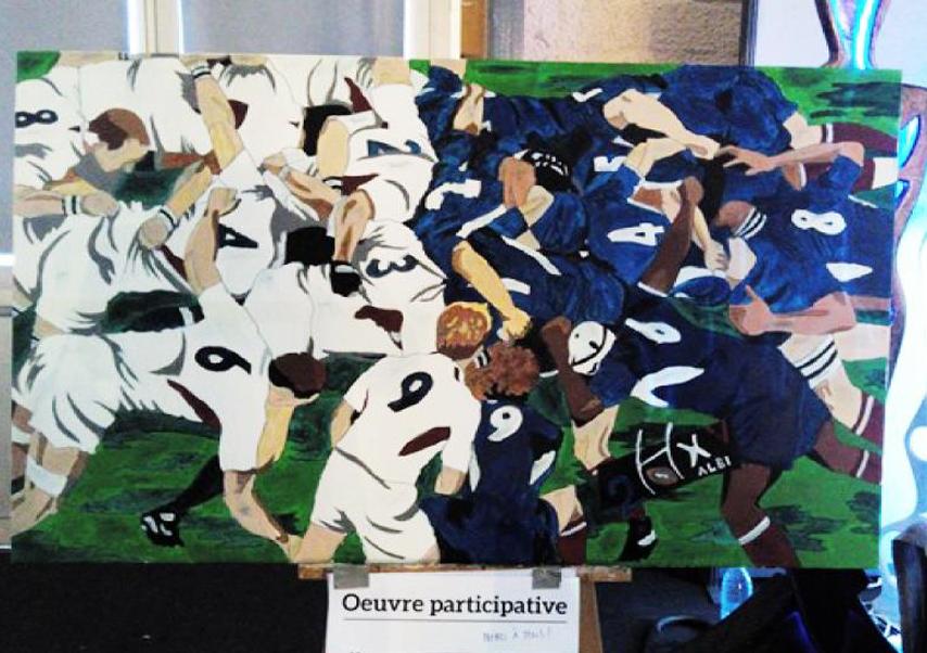 fresque participative peinture au numéro